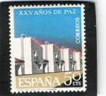 Sellos de Europa - Espa�a -  1579- XXV A�OS DE PAZ ESPA�OLA. NUEVOS POBLADOS.