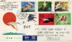 Sellos de Asia - China -  Carta circulada de China a México-ibis