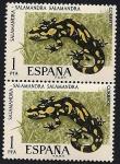 Stamps Spain -  Fauna hispánica - Salamandra