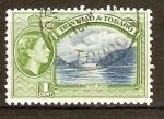 Stamps America - Trinidad y Tobago -  FIRST  BOCA  Y  REINA  ELIZABETH  II