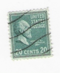 Stamps United States -  James A. Carfield (repetido)