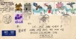 Stamps China -  Carta circulada de China a México cancelación primer día-Cometas