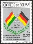 Sellos del Mundo : America : Bolivia : VISITA DEL PRESIDENTE DE ALEMANIA FEDERAL SR: RICHARD VON WEIZACKER