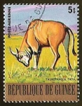 Sellos de Africa - Guinea -  TAUROTRAGUS ORYX I