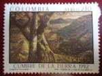 Stamps of the world : Colombia :  CUMBRE DE LA TIERRA 1992 (Roberto Palomino T.)