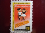Stamps of the world : Colombia :  Instituto Colombiano F. D. Roosevelt (Ley 39 de 1962)