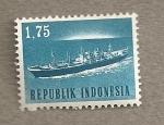 Sellos de Asia - Indonesia -  Barco mercante