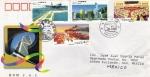 Sellos de Asia - China -  Carta circulada de China a México primer día de emisión -fdc-Construcciones económicas en Hong Kong