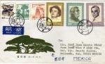 Sellos de Asia - China -  Carta circulada de China a México-Personajes