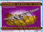 Sellos del Mundo : America : Colombia :  Historia de la aviaci�n colombiana