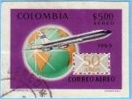Stamps : America : Colombia :  50 años de Correo Aereo