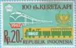 Sellos del Mundo : Asia : Indonesia :  100 th. Kereta Api