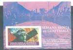 Sellos de America - Guatemala -  Semana Santa 1977 (Hoja Filatélica)