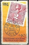 Stamps America - Chile -  Centenario sociedad Filatelica de Chile