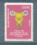 Sellos de America - Guatemala -  Dia Mundial de las Telecomunicaciones y Salud
