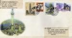 Stamps China -  Carta circulada de China a México-Arquitectura