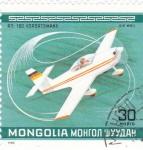 Stamps : Asia : Mongolia :  avionetas deport