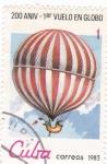 Stamps : America : Cuba :  aniv.globo aerostatico