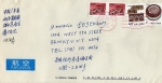 Sellos de Asia - China -  Carta circulada de China a Brooklyn New York Usa-Muralla China.