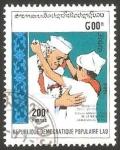 Stamps Laos -  936 G - centº del nacimiento de Jawaharlal Nehru