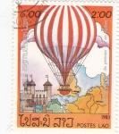 Stamps : Asia : Laos :  aniv.globo aerostatico