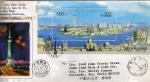 Sellos de Asia - China -  Carta circulada de China a México primer día de emisión-fdc-Shanghai Pudong