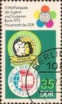 Stamps Germany -  Festival Mundial de la Juventud, Berlin '73.
