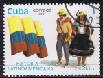 Stamps America - Cuba -  Scott  3256  Colombia (Trajes tipicos)