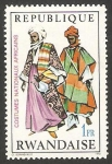 Stamps Africa - Rwanda -  349 - Traje típico africano de Nigeria del Norte