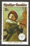 Stamps Rwanda -  593 - Joven tocando la flauta, cuadro de J. Leyster