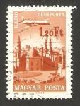 Stamps Hungary -  283 - Avión sobrevolando El Cairo