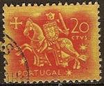 Sellos del Mundo : Europa : Portugal : Rey Denis con su armadura montado a caballo.