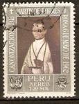 Stamps Peru -  SAN  MARTÌN  DE  PORRES