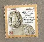 Sellos del Mundo : Africa : Túnez : Estatua de Esculapio dios de la medicina
