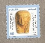 Stamps Africa - Tunisia -  Protomé, Máscara  femenina siglo VI-IV a,J
