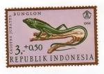 Sellos del Mundo : Asia : Indonesia : Reptiles semipostal-bloodsucker