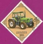 Stamps Mongolia -  Tractores: Deutz-DX-230, Alemania.