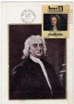 Sellos de America - México -  Tarjeta Máxima de México-Primer día de emisión-Isaac Newton.