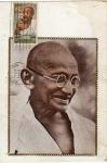 Sellos de America - México -  Tarjeta máxima de México primer día de emisión-Mahatma Gandhi