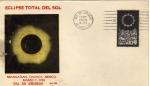 Sellos de America - México -  Sobre de México primer día de emisión fdc-Eclipse total de sol