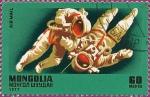 Sellos de Asia - Mongolia -  Sir Isaac Newton (1642-1727): Astronautas en el Espacio.