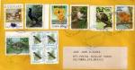 Sellos de America - Brasil -  Carta circulada de Brasil a México-Fauna