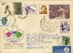 Sellos del Mundo : Europa : Polonia : Sobre circulado de Polonia  México-exposiciones filatélicas(2)