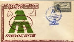 Sellos del Mundo : America : México : sobre cancelación especial-Mexicana de aviación reanudación del servicio México-Campeche.