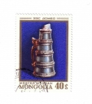 Stamps Mongolia -  Arte en bronce