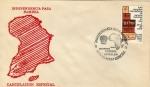 Sellos del Mundo : America : México : sobre con cancelacion especial-Independencia para Namibia