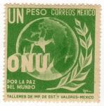 Sellos del Mundo : America : México : Sello nuevo de México mint-ONU por la paz del mundo