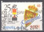 Sellos de Europa - España -  ESPAÑA 2001_3805.02 25 AÑOS DE LA COPA DEL REY.ESCUDO DEL ZARAGOZA