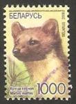 Stamps : Europe : Belarus :  635 -  fauna, marta de los bosques