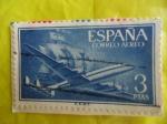 Sellos de Europa - España -  Super Costellation y Nao Sta. María-E1175
